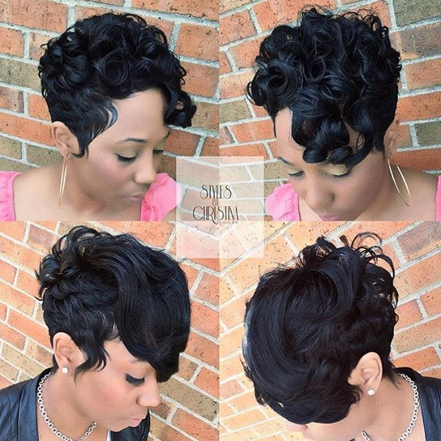 Hairstyles For Black Permed Hair Medium Length : 327 best cute styles ~ fingerwaves & soft curls images on pinterest