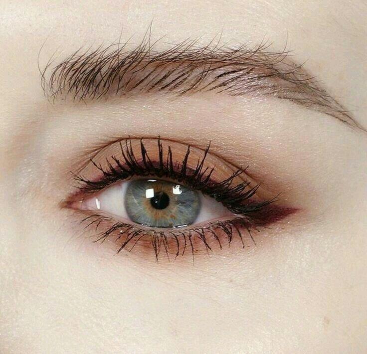 soft brown eye makeup.. #naturaleyemakeup
