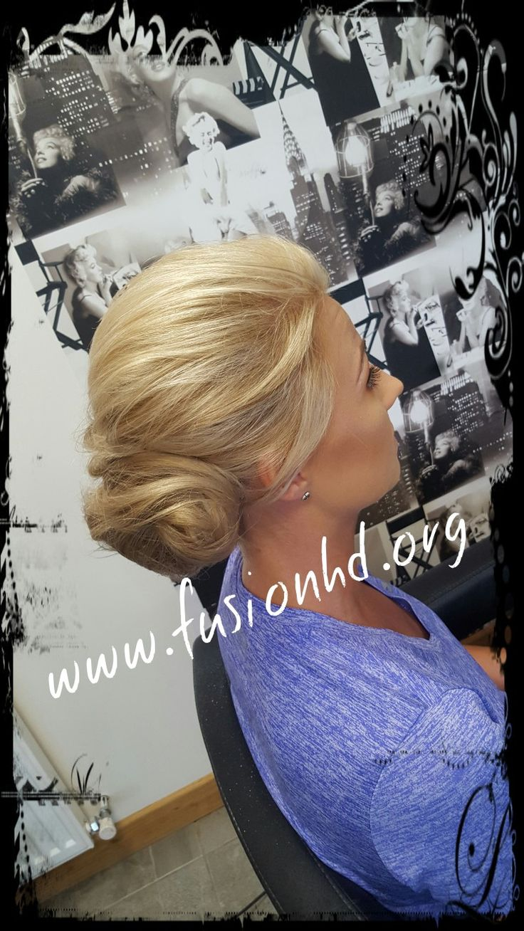 Soft twisted bun updo. Simple and elegant upstyle perfect for wedding #fusionhd