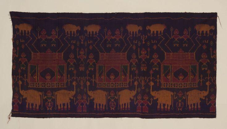 Vintage Pictoral Weft Ikat Wall Hanging