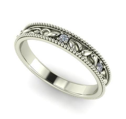 Engagement diamond band wedding rings engagement bands natural diamonds set in 14k white