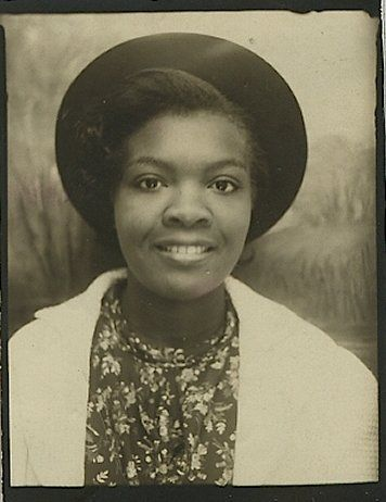 +~Vintage Photo Booth Picture~+  Beautiful young woman
