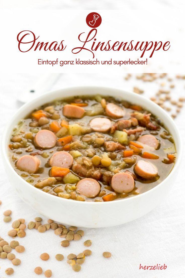 Sopa de lentilha da vovó – culinária caseira (sopa)   – Schnelle Küche: einfache Gerichte unter 35 Minuten