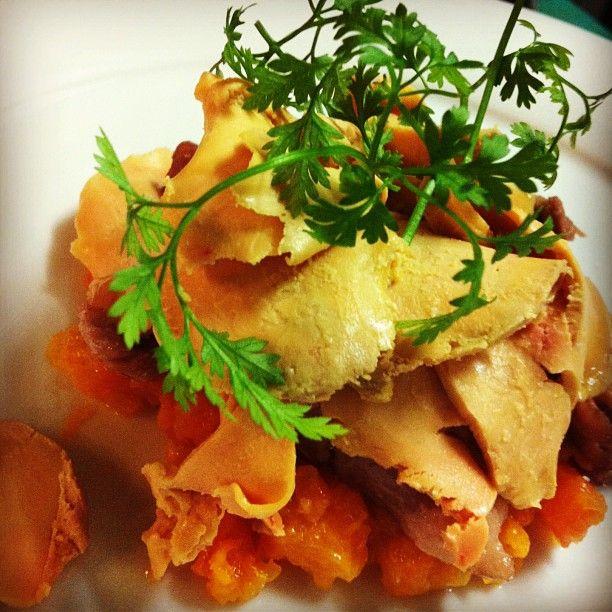 Confit d'anatra, foie gras e carota da Del Vuoto  https://www.facebook.com/DelVuoto