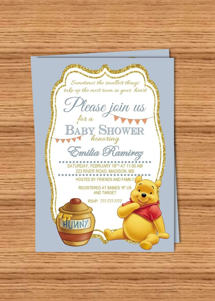 582 best invitations stationery images on pinterest diy printable baby shower invitation winnie the pooh pooh bear eeore by perfectedbygrace filmwisefo Images