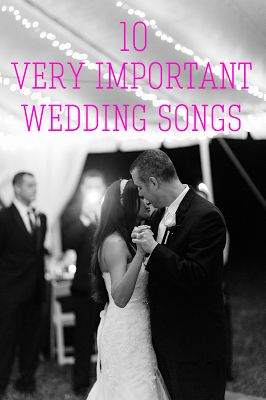 The 10 Important Wedding Songs!!  Processional, Recessional, etc.