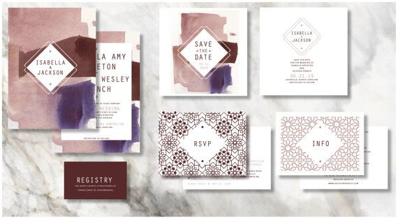 SEVILLE Wedding Invitation Set Save the date RSVP by INVITALIA