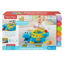 Fisher-Price Go Baby Go! Poppity Pop Musical Dino Toy