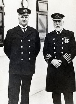 BE052233  Purser McElroy and Captain Smith on the Titanic. April 1912
