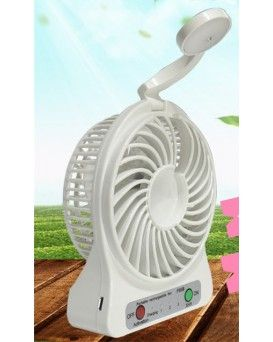 1-2-3 SPEED FAN WITH EMERGENCY POP UP LAMP - RECHARGEABLE  (COMING SOON)