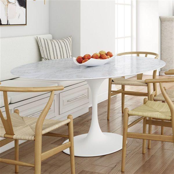 Saarinen Tulip Oval Marble Dining Table Oval Marble Dining Tables Dining Table Marble Marble Dining
