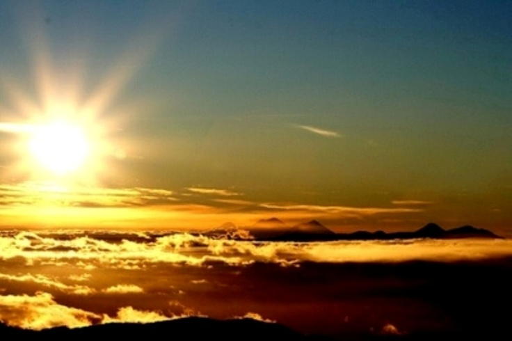 wake up a the top of Tajumulco Volcanoe