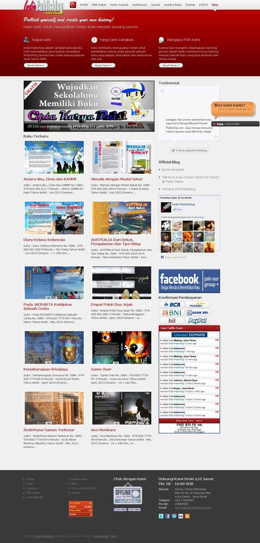 #Portofolio #Companyprofile Di tahun 2012, kami menerima project redesign salah satu situs populer di dunia penerbitan indie bernama Indie-Publishing.com. Web company profile sekaligus katalog buku ini kami kerjakan dengan menggunakan CMS WordPress.