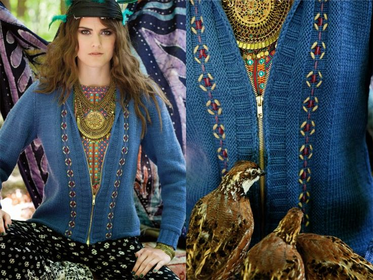 Vogue Knitting Fall 2014 | Вязаные модели в стиле Boho-chic: Вязание крючком и спицами
