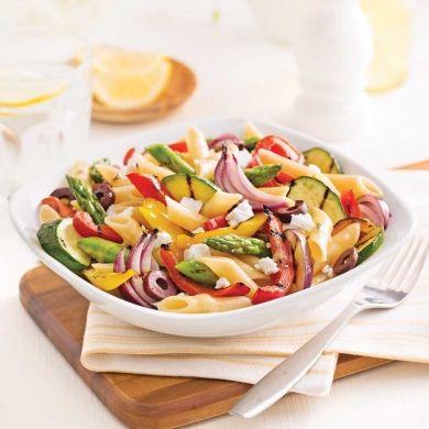 Pennes aux légumes grillés - Recettes - Cuisine et nutrition - Pratico Pratique