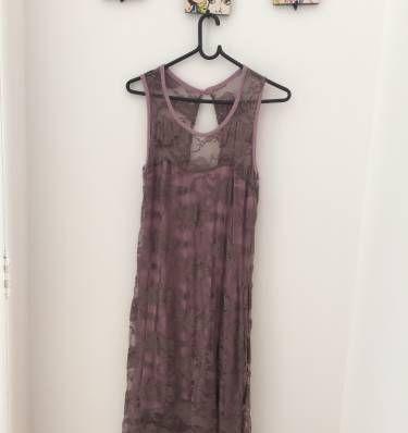 vestido roxo de renda - vestidos sem marca