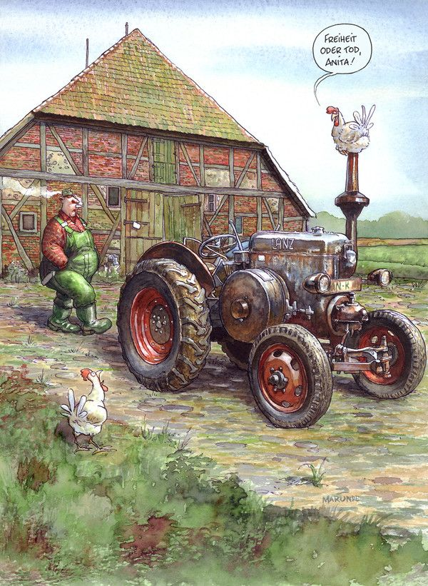 Landtechnik - MARUNDE | Cartoons & Illustrationen von Wolf-Rüdiger Marunde