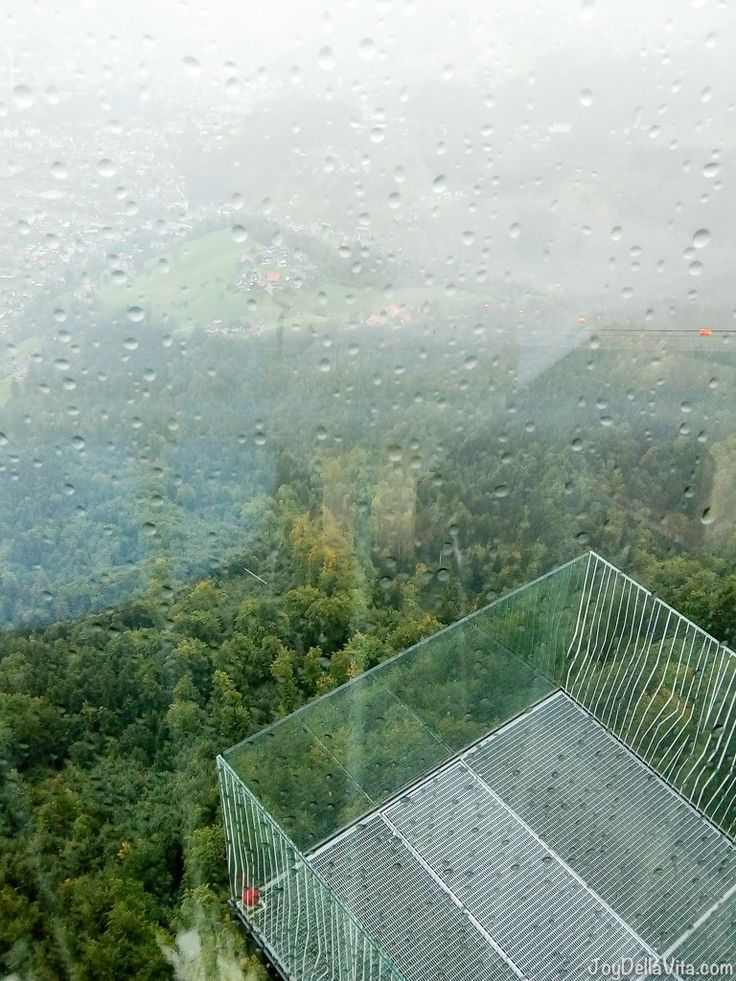 View from Karren Panorama Restaurant in Dornbirn / Vorarlberg