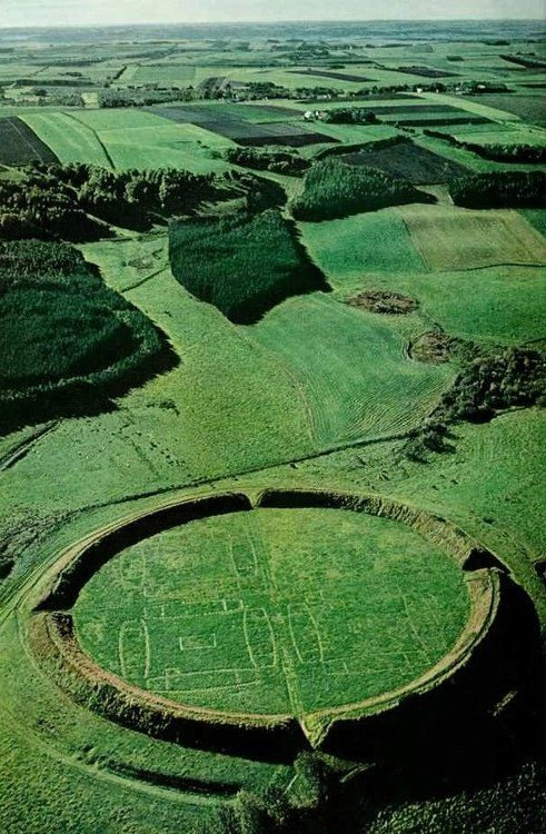 Trelleborg Viking Ring Fortress The fort has been dated to around 1000 AD #archaeology Borgeby, Denmark #Vikings