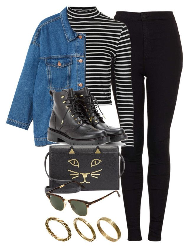 """""""Style #9758"""" by vany-alvarado on Polyvore featuring Topshop, Monki, rag & bone, Charlotte Olympia, Ray-Ban, Made, women's clothing, women, female and woman"""