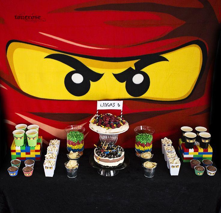 Ninjago sweet table =) Dessert-table for Lukas 6 years old =)   Ninjago dessertbord / kakebord. Barnebursdag =)