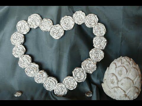 Herz basteln aus Alufolie – Hochzeit, Muttertag, Valentinstag, Geburtstag, Verlobung - YouTube