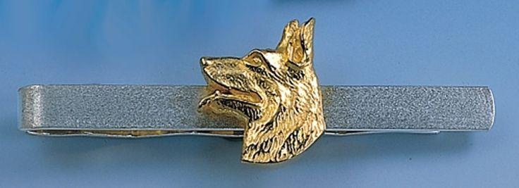 Krawattenclip mit Schäferhundkopf