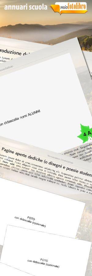 Modello Mount - Annuari per la Scuola - un servizio nuovo di miofotolibro.it per tutte le scuole italiane - un operatore impaginerà per la vostra scuola l'annuario