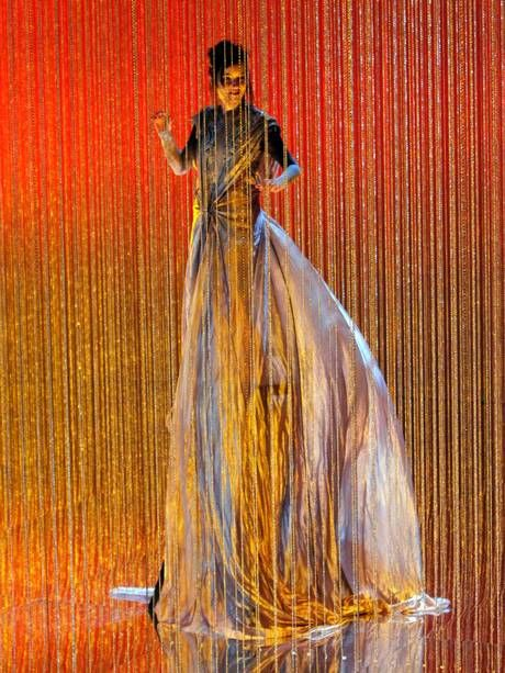 Soprano Anna Prohaska rehearses a scene for the Berlin State Opera's 2010 production of Handel's 'Agrippina', for which Lacroix designed the costumes (Alamy)