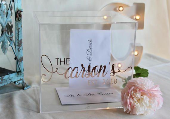 Personalized Wedding Card Box I Acrylic Card Box I Wedding Etsy Money Box Wedding Card Box Wedding Personalized Wedding Card Box