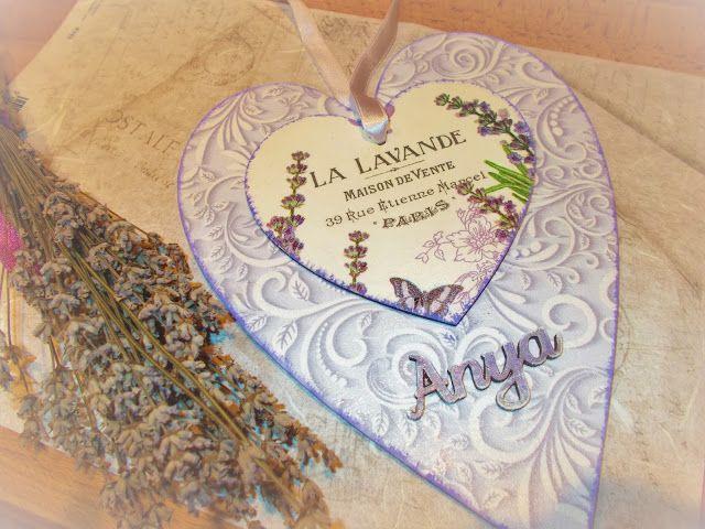 Ágness otthondekor blogja: Levendula szív