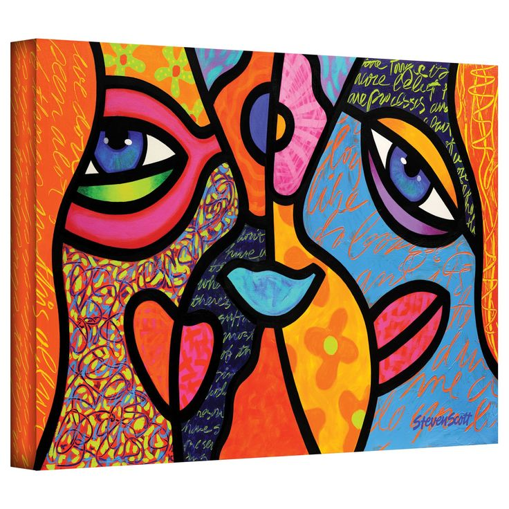 'Eye to Eye' by Steven Scott Painting Print on Canvas