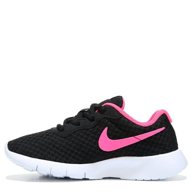 Nike Kids' Tanjun Running Shoe Preschool Shoes (Black/Pink) - 13.5 M