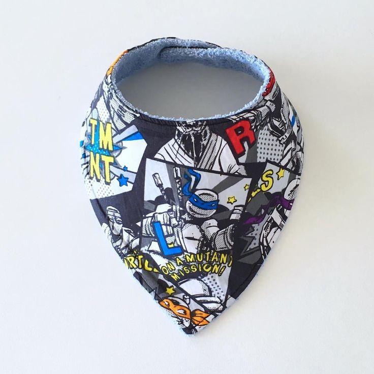 Bandana Bib made with Ninja Turtles fabric www.etsy.com/au/shop/MummyGDub