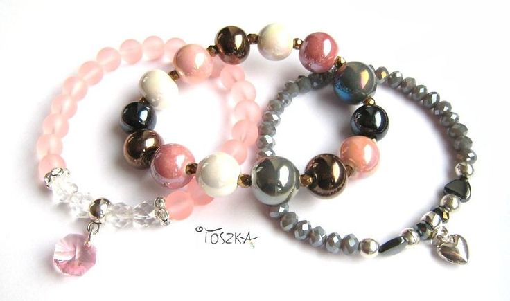 "Bracelet set ""Rose"" by TOSZKA on Etsy"