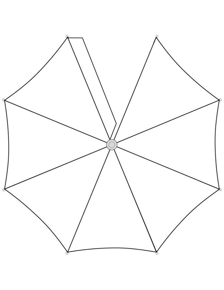 Umbrella Top Template - free to use