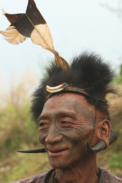India - Nagaland   Lower Konyak head-taker.   © Walter Callens