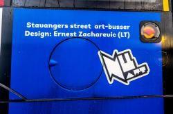 NUART STREET ART BUS by Ernest Zacharevic (LT)