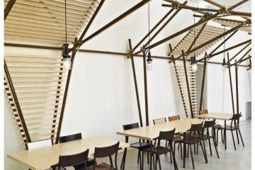 la instalaci n escult rica 24 lines de 1024 architecture recibe a los visitantes en el centro de. Black Bedroom Furniture Sets. Home Design Ideas