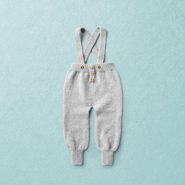 KNIT KIT, Merino Wool Van Beren baby knit trowswes FLOYD, dark brown