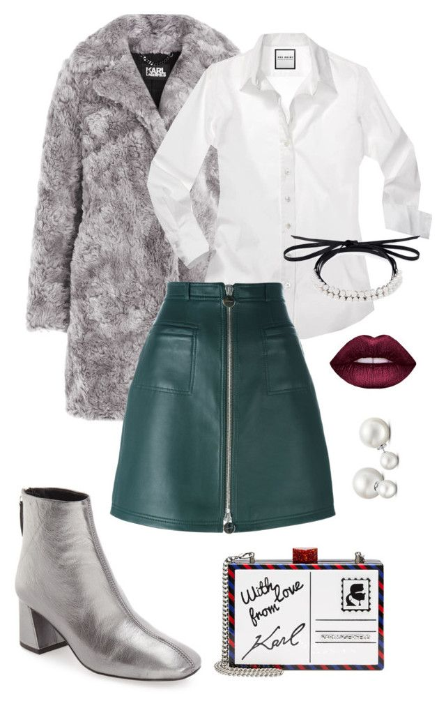 """""""Classic chic"""" by trend-anonymous on Polyvore featuring Karl Lagerfeld, Topshop, Carven, Fallon and Allurez"""