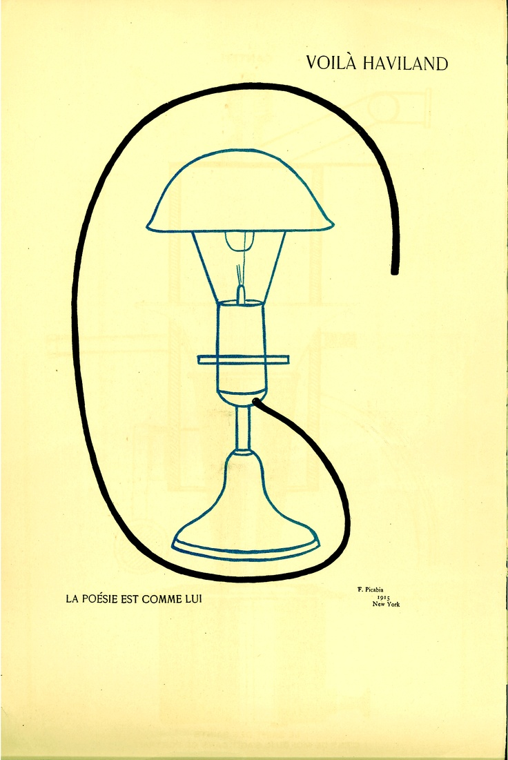 Nos. 5-6, July–August 1915: Page 5: Voila Haviland, drawing by Francis Picabia