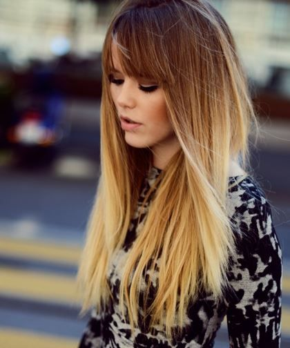 blonde ombre with bangs  New Brunette  Hair Hair styles