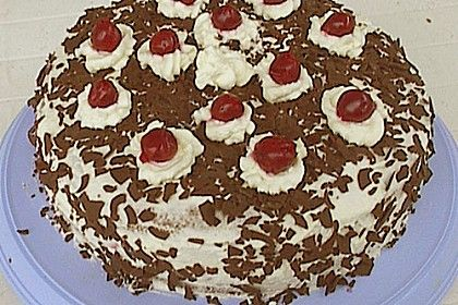Original Black Forest Cake - using real whipped cream and a made from ...