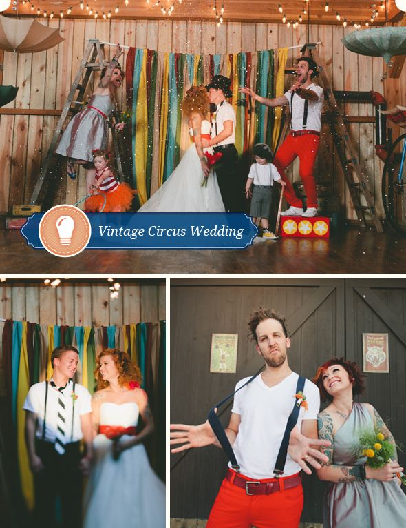 Vintage Circus Wedding! Colorfully captured by Harper Point Photography  http://www.harperpoint.com/