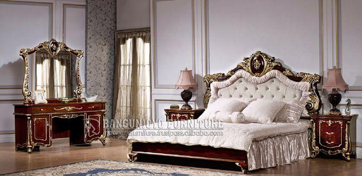 Italian Bedroom Set http://frenchfurindo.com/  #furniture #bed #bedroomset