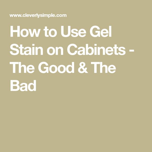 how to use gel stain