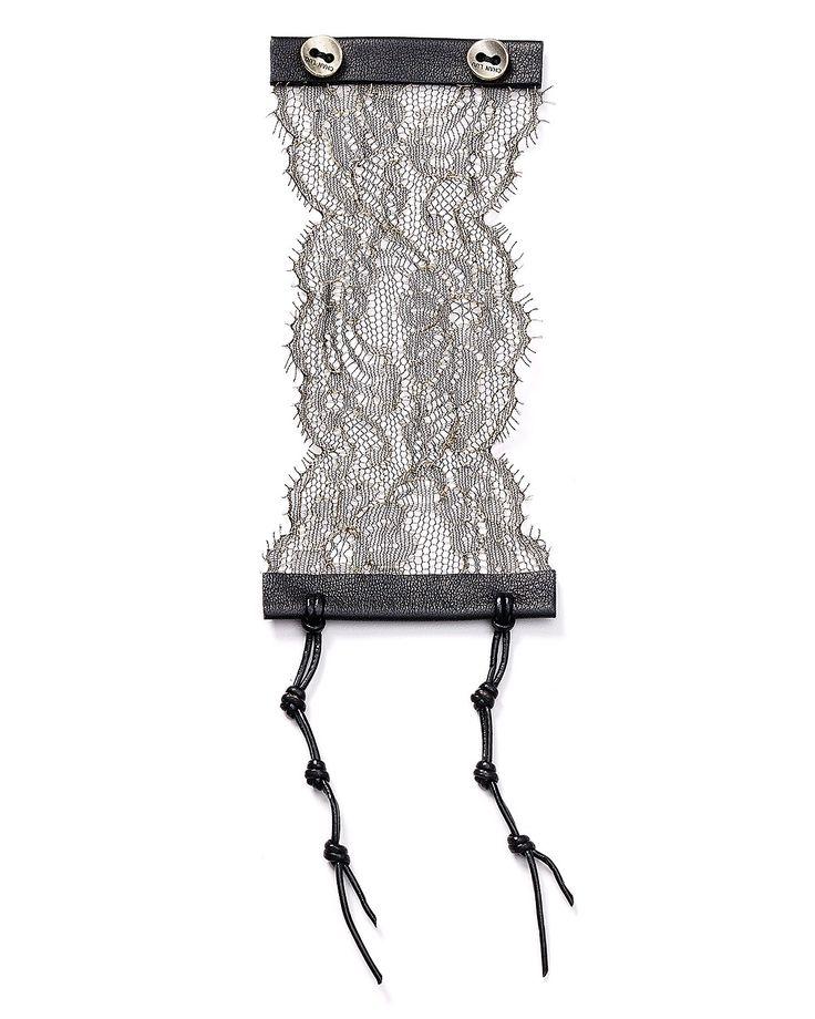 Chan Luu Leather & Lace Cuff   Bloomingdale's