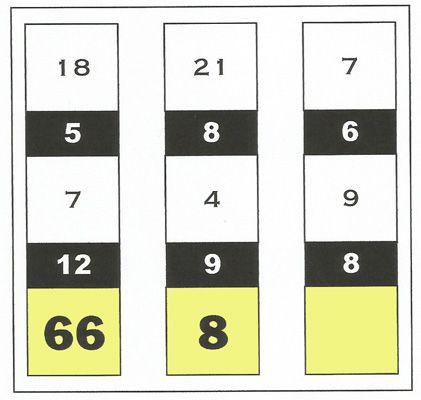 Gioco matematico di  Albus  In ogni colonna i numeri su fondo giallo risultano da due diverse operazioni tra le cifre bianche e nere. Quale manca sulla terza colonna? #albus #enigmistica #enigmionline #matematica #giochimatematici