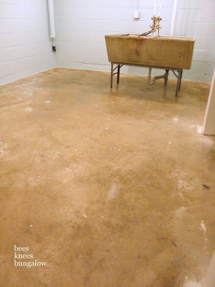 75 best images about basements on pinterest for Best way to clean concrete basement floor